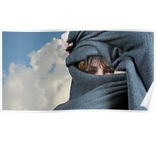Blanketed Woman Poster