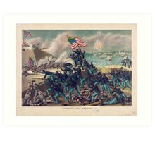 Civil War Storming of Fort Wagner July 18th 1863 Art Print