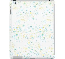 Watercolor splashes. Blue and yellow iPad Case/Skin