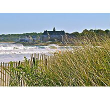 The Tower Above the Waves and Sea Grass - Narrgansett - Rhode Island - US *featured Photographic Print