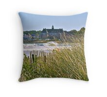 The Tower Above the Waves and Sea Grass - Narrgansett - Rhode Island - US *featured Throw Pillow