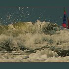 waves and foam by LisaBeth