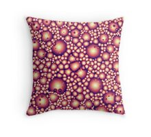 Alien Molecular Structure Throw Pillow
