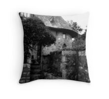 An American Castle Garden Throw Pillow