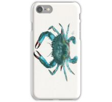 Blue Crab Watercolor iPhone Case/Skin