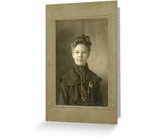 Miss Gertrude Talle Greeting Card