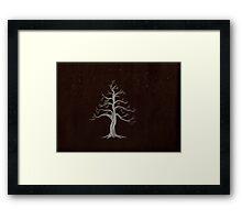 The White Tree Framed Print