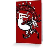 Scythian Antlers Tee Greeting Card