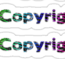c is for Copyright Sticker