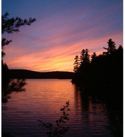 Algonquin Sunset  Sticker