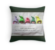 Cute Babies In Fuzzy Blanket, Quote About Bed Throw Pillow