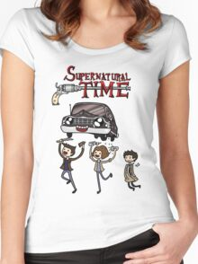 Supernatural Time Women's Fitted Scoop T-Shirt