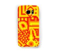 pixel mess red yellow Samsung Galaxy Case/Skin