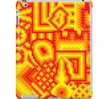pixel mess red yellow iPad Case/Skin