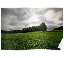 stormy countryside Poster