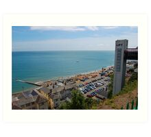 THE LIFT AT SHANKLIN. IOW. Art Print
