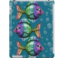 Linda with bubbles in blue iPad Case/Skin