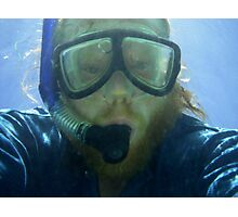 Self portrait, underwater at Ningaloo Reef, WA Photographic Print