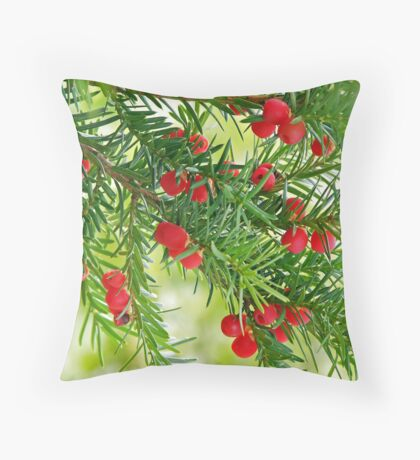Christmas Berries Throw Pillow
