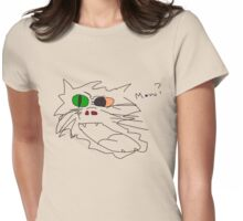 Mow cat design ha Womens Fitted T-Shirt