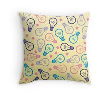 Cute Pastel Lightbulbs Throw Pillow