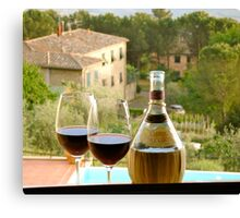 Chianti for two Canvas Print