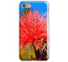 Red Flower macro iPhone Case/Skin