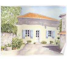 French Cottage Poster