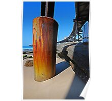 Historic Rusty Long Wharf, Catherine Hill Bay Poster