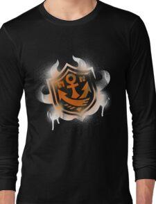 Splatoon Inspired: Graffiti Ranked Battle Icon(White) Long Sleeve T-Shirt
