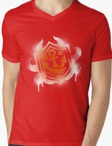 Splatoon Inspired: Graffiti Ranked Battle Icon(White) Mens V-Neck T-Shirt