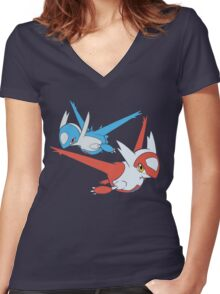 Latias and Latios - Eon Women's Fitted V-Neck T-Shirt