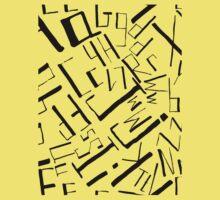Hand drawn black alphabet. Doodle pattern of typographic symbols Baby Tee
