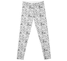 Hand drawn black alphabet. Doodle pattern of typographic symbols Leggings