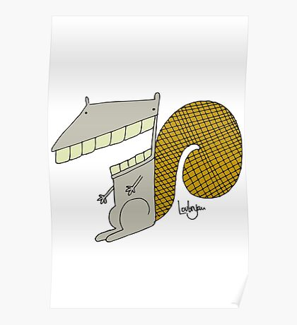 Scooter the Squirrel Poster