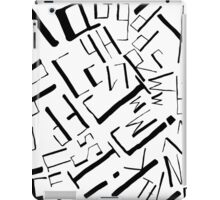 Hand drawn black alphabet. Doodle pattern of typographic symbols iPad Case/Skin