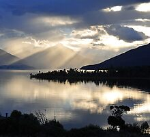 Lake Te Anau At Sunset. South Island, New Zealand. by Ralph de Zilva