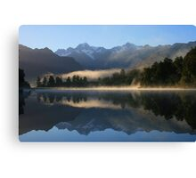 """misty matheson""   fox glacier, south westland nz Canvas Print"