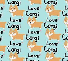 Pixel Corgi Love by itsjustmebre