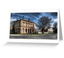 Post Office and Town Hall (Colour) - Clunes Greeting Card