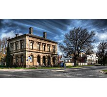 Post Office and Town Hall (Colour) - Clunes Photographic Print