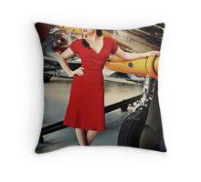 ReenaRose Pinup 01 Throw Pillow