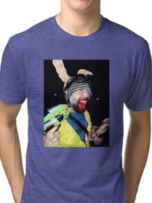 PSYCHO SCREAMING  RAVE RABBIT Tri-blend T-Shirt
