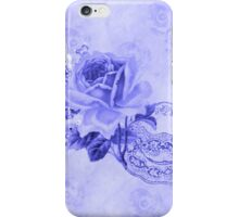 Blue Vintage Teacup & Flowers iPhone Case/Skin
