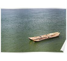 Wooden Pirogues Afloat Poster