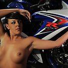 Maya & Bike II by jon  daly