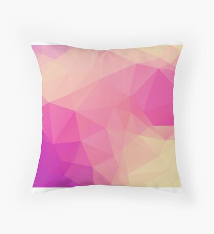 Polygon Backgrounds Throw Pillow
