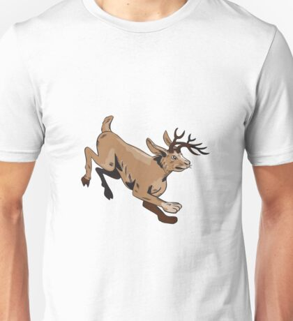 Jacklope Jumping Side Etching Unisex T-Shirt