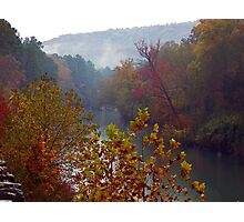 Mulberry River in Fall, Oark, Arkansas Photographic Print