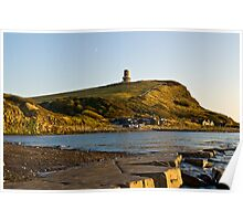 Sunsetting at Kimmeridge bay Poster